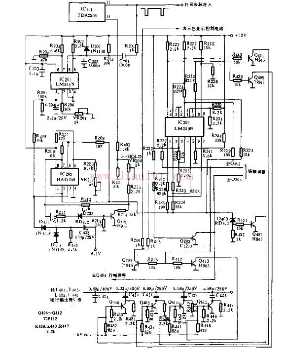 多行顺自动同步系统与自动S校正电路   lm339n管脚功能中文资料:1脚,电压取样输出端;2脚,电压取样输出端;3脚,电源输入端;4脚,电压取样反相输入端;5脚,电压取样同相输入端;6脚,电子开关启动端;7脚,电压取样同相输入端;8脚,电压取样反相输入端; 9脚,PG信号同相控制端;10脚,电压取样反相输入端;11脚,电压取样同相输入端;12脚,地;13脚,PG信号输出端;14脚,电压取样输出端。