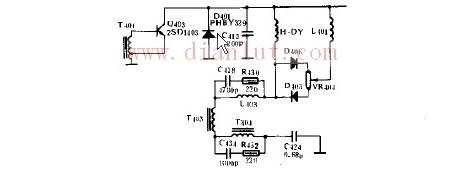 简易GW500A行输出级电路的电路图