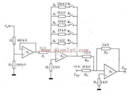 调理接收信号原理电路图