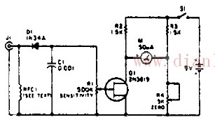 简易放大式场强测量仪电路图