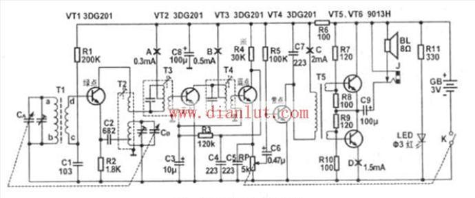 S66D型收音机电路