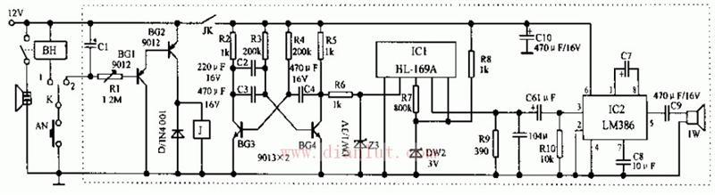 汽车电子语音喇叭电路的介绍