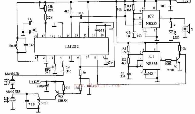 LM1812设计的新型汽车倒车告警器电路