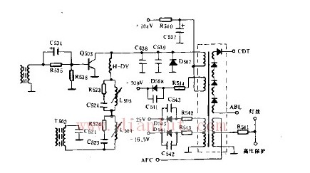 关于用GW400显示器的行输出级电路