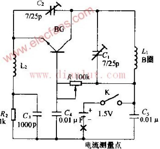 1.5V电视机伴音接收机电路原理图