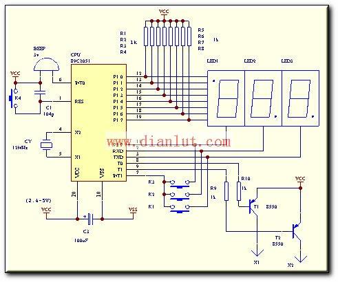 故直接驱动:蜂鸣器,pnp晶体管