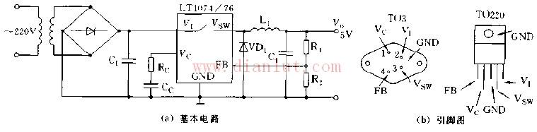 基于LT1074、LT1076芯片设计其基本应用电路