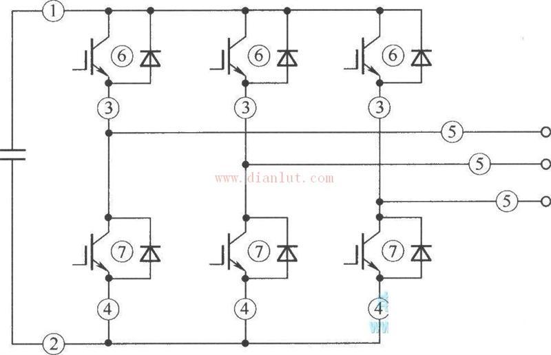 电压型逆变器故障电流的检测点电路