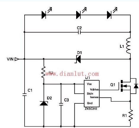 替换低压卤素灯的高功率LED驱动灯