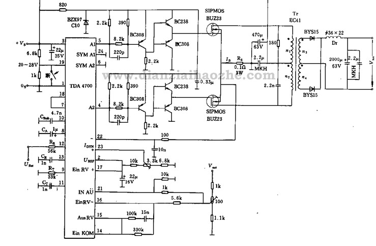 dc变换器电路图