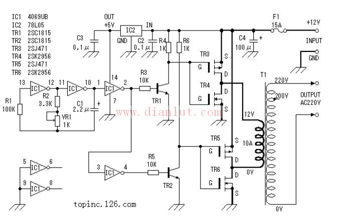 dc/ac逆变器原理电路