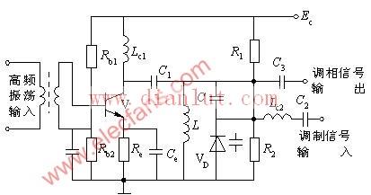 变容二极管调相器电路