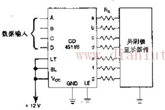 及其它器件。LT 、BI 、LE 输入端分别检测显示、亮度调节、存储或选通一BCD 码等功能。当使用外部多路转换电路时,可多路转换和显示几种不同的信号。   4511提供了16引线多层陶瓷双列直插(D)、熔封陶瓷双列直插(J)、塑料双列直插(P)和陶瓷片状载体(C)4种封装形式。