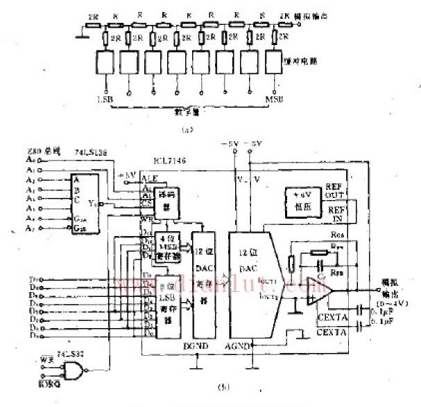 da转换器电路原理图