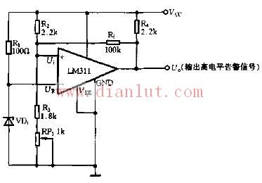 【图】基于运放器的简易电源检测电路其它电路图