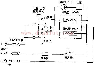 恒温式多用电热锅电路