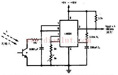 最新电路图; 【图】光亮频率变换器电子电路图其它电路图 电路图