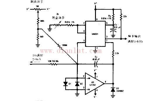 【图】lm321构成的电流频率变换器电路图其它电路图