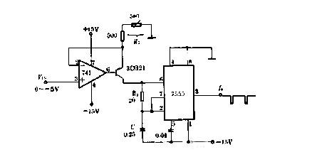 高精度电压/频变换电路图