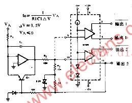 依据电压频率转换器的电路图