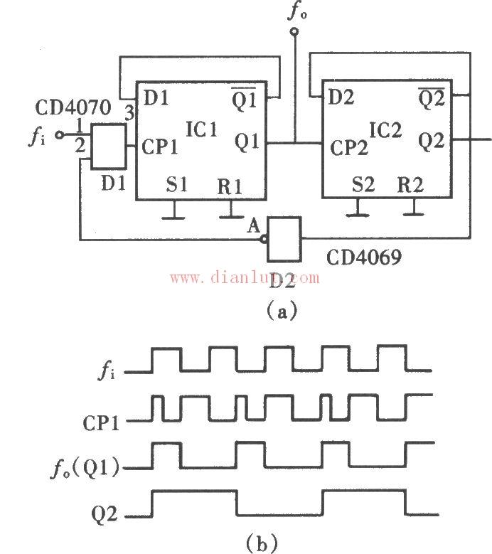 cd4069是六反相器,cd4069是一个六非门电路,就是在一个集成电路中