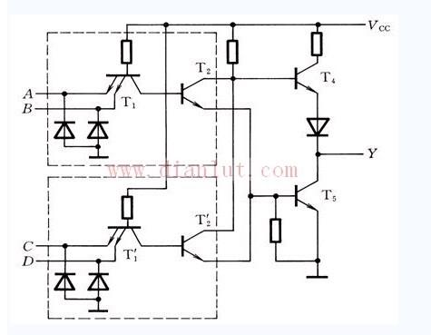 TTL与或非门电子电路