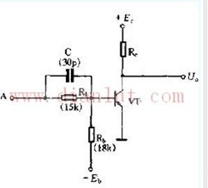三极管非门电路电路图