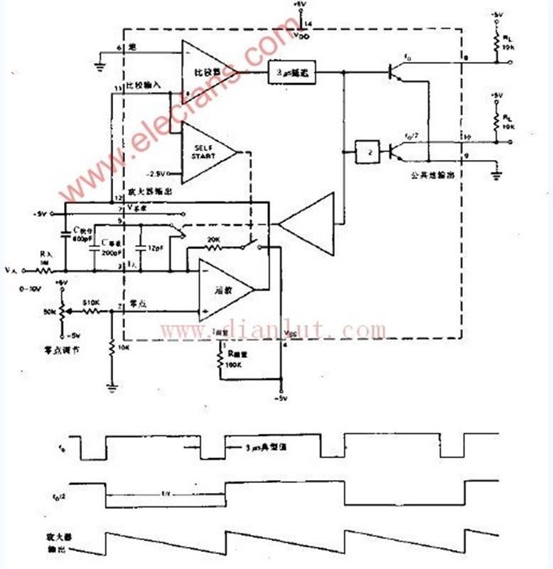 10hz-10khz电压频率转换器电路