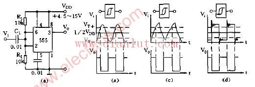 施密特触发器用于整形变换电路