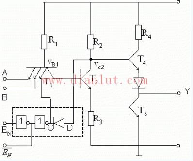 三态门输出门电路原理图