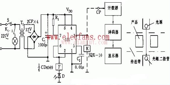 【图】脉冲计数器电路原理图其它电路图