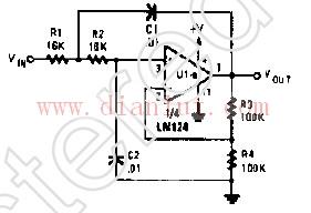 有源RC低通滤波器电路原理图