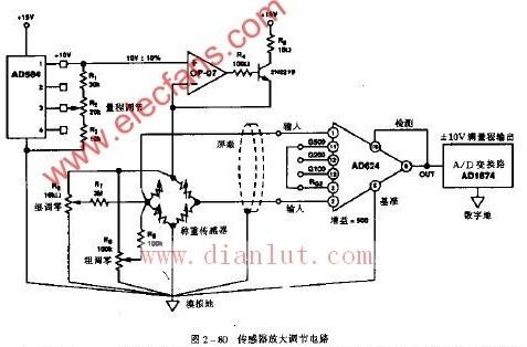 【图】传感器放大调节电路原理图线性放大电路