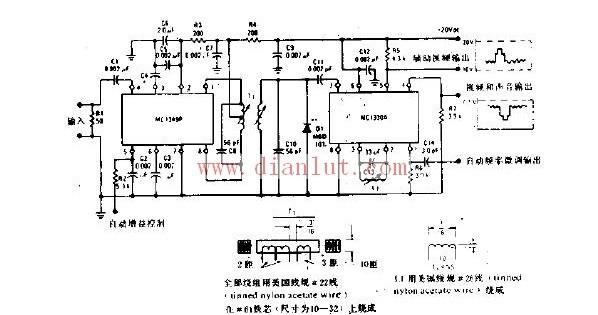 【图】视频中频放大器和低电平视频检波电子电路线性