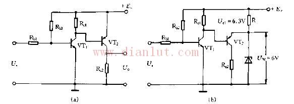 【图】采用互补管实现电路的直接耦合线性放大电路