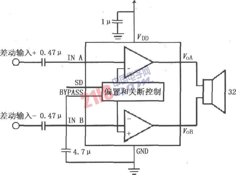 lm4915构成的双声道放大电路原理图