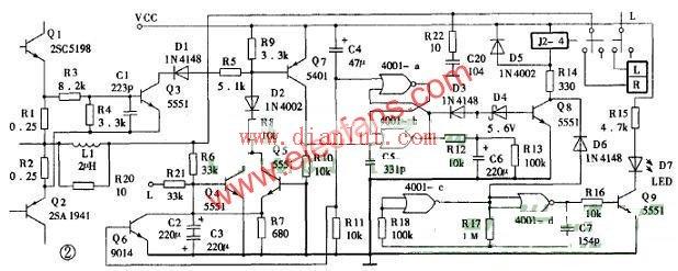 功放扬声器的保护电路原理图
