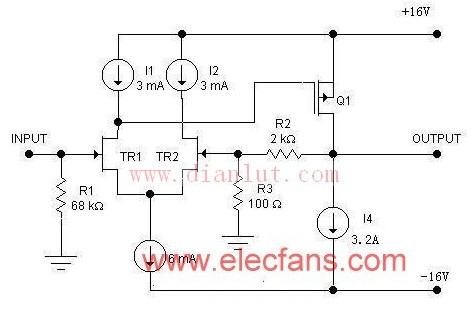 W 50W单端功放电路原理图音频电路 电路图 捷配电子市场网