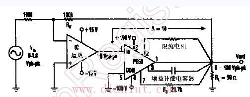 【图】快速高压线性功率放大器的电路音频电路