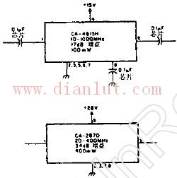 用于宽带功率放大器的电路图片