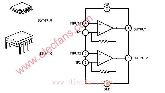 机和收音机的音频功率放大输出部分的双极性集成电路