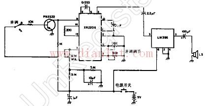 【图】简单的双音调编码器电路音频电路 电路图 捷配