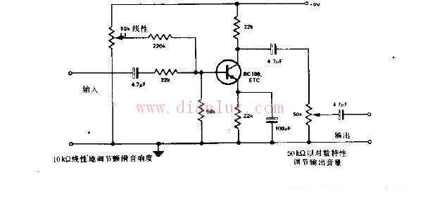 电箱电路图的画法-颤滑音箱电路原理图