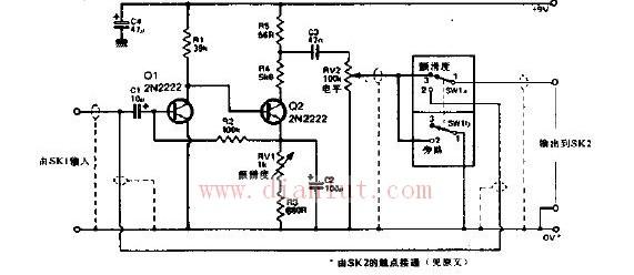 颤滑音箱5电路图-颤滑音箱的电路基本电路