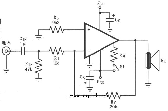 基于LM4781放大器设计反相功放电路