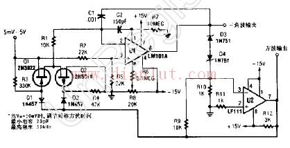 方波和三角波输出的压控振荡器