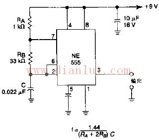 非稳态多谐振荡器电路图-多谐震荡器和Q2的耦合电路
