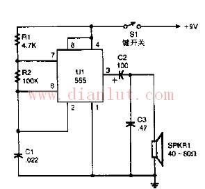 莫尔斯电码与振荡器结合电路