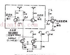 饱和输出发射极的耦合自激多谐振荡器电路