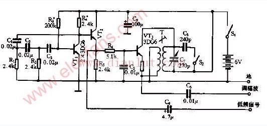 调试用多种的信号发生器电路